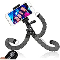 Phone Tripod, WEMFG Flexible Tripod for Phone with Wireless Remote for Iphone& Android Phone, Camera, Sports Camera and Gopro