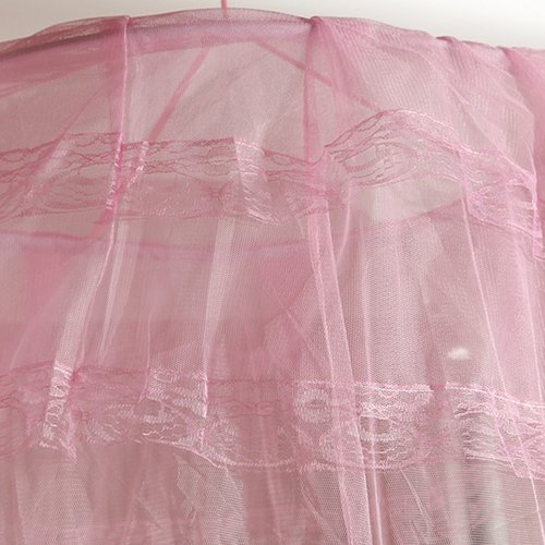 xjarrogantqibi House Bedding Decor Summer Sweet Style Round Bed Canopy Dome Mosquito Net Pink