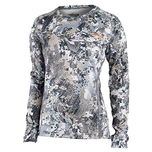 SITKA Gear New for 2019 Womens Core Midweight Crew - LS Optifade Elevated II Large