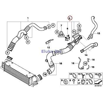 bmw genuine intercooler intake muffler charge air induction tract 335i  335xi 335i 335xi 335i 335xi 335is