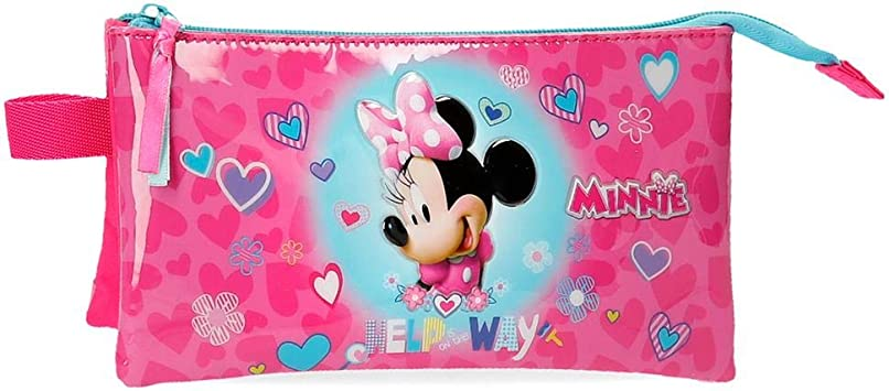 Disney Help on The Day Estuche Minnie Tres Compartimentos, Rosa, 22x12x5 cm: Amazon.es: Equipaje