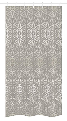 Shower Flower Giraffe Blue (Afagahahs Shower Curtains Grey Stall Victorian Lace Flowers and Leaves Retro Background Old Fashioned Graphic Print Warm Taupe Beige Long Bath Curtain with Hooks for Baththroom Decoration)