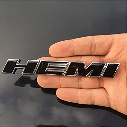 Black LZLRUN 2pcs B186 Metal HEMI Emblem Decal Badge Sticker