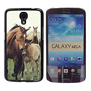 Design for Girls Plastic Cover Case FOR Samsung Galaxy Mega 6.3 Horse Cub Nature Foal Animal Summer OBBA