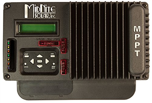 Midnite Solar, The KID MPPT Charge Controller, 150VDC, 30A, 12-48V Battery, with LCD & wall mount bracket, Black, MNKID-B by KID MPPT