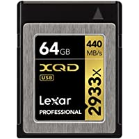 64GB Lexar Professional XQD 2.0 2933x Speed Rating Memory Card