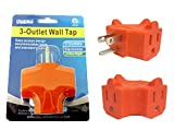 OUTLET ADAPTER 3 PLUG ORANG, Case of 96