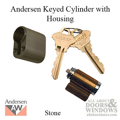 Andersen Keyed Lock Cylinder with Housing FWH - Stone