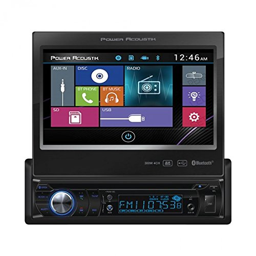 Power Acoustik PD-724B 1-DIN Source Unit With Bluetooth/Motorized 7