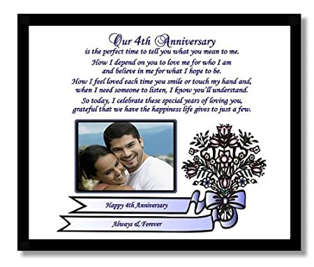 4th wedding anniversary gift for wife or husband fourth