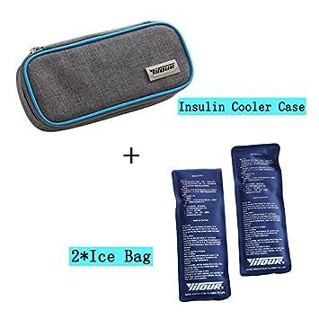 Bolsa térmica de insulina portátil, con aislante y estuche ...