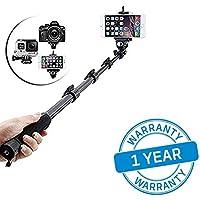 Azacus Bluetooth Monopod Selfie Stick for All Phones (Black)