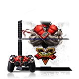 Ci-Yu-Online VINYL SKIN [PS4] Street Fighter V #1 Ryu Whole Body VINYL SKIN STICKER DECAL COVER for PS4 Playstation 4 System Console and Controllers