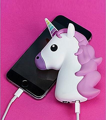 Cargador externo Emoji unicornio: Amazon.es: Hogar