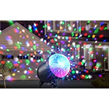 ION Holiday Party Plus | Multicolor Projected Lights with Simple Outdoor Setup, Remote Control, and Schedule Timer