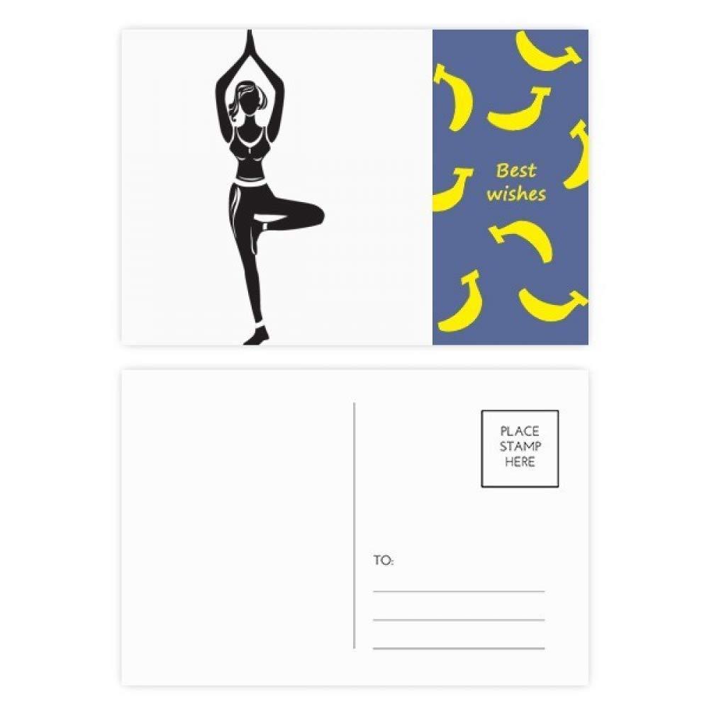 Juego de 20 postales con silueta de banana para yoga y niña ...
