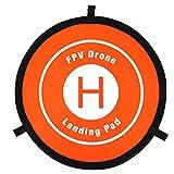 Inverlee 55CM Fast-fold Landing Parking Apron Pad for DJI MAVIC PRO SPARK 3DR S6 Drone (Orange)