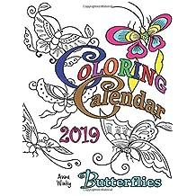 Coloring Calendar 2019 Butterflies