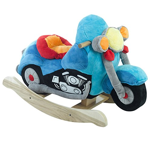 [Rockabye Lil' Biker Motorcycle Rocker, One Size] (Plush Turtle Kids Costumes)