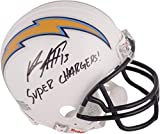 Keenan Allen San Diego Chargers Autographed Mini Helmet with Super Chargers Inscription - Fanatics Authentic Certified
