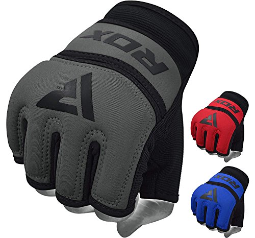 RDX Gel MMA Grappling Gloves Cage UFC Fighting Inner Sparring Glove Training, Medium, Gray