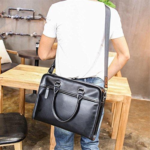 TT Hombres Moda Retro Maletín Bolsa De Hombro Messenger Bag Bolsa De Ordenador De Negocios