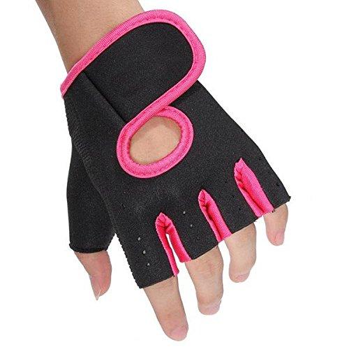 Moppi Entrenamiento de ciclismo de pesas deslizamiento canotaje dedo medio guantes