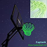 Captank Glow Basketball Net Glowing in the Dark Outdoor Sports Nylon Basketball Hoop Rim Net All Weather Thick Replacement Net