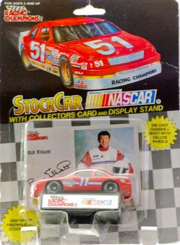1992-racing-champions-nascar-stock-car-bill-elliott-11-amoco-ford-thunderbird-collectors-card-displa