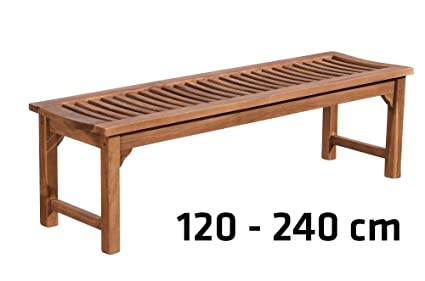 Clp Teakholz Gartenbank Havana V2 Ohne Lehne I Holzbank Für Den Garten I In Verschiedenen Größen Wählbar 140 X 45 X 45 Cm