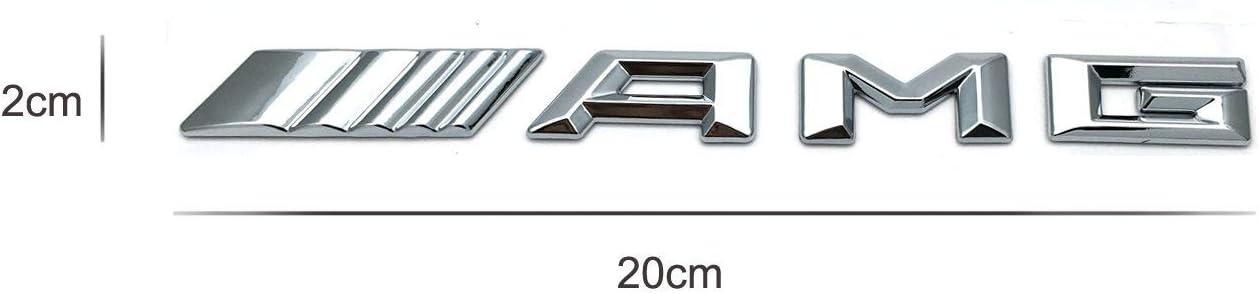 CoKu Metal Chrome Avec lLogo AMG pour Grille Avant pour Grille de Voiture ou Colle Embl/ème AMG 3D