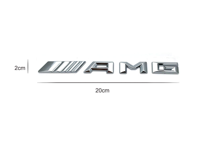 Emblema 3D AMG Chrome in Metallo CoKu con Logo AMG per Griglia Frontale per Griglia o Colla per Auto