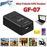 goowrom GF07 Mini Car Magnetic GPS Real-Time Portable Magnetic Tracking Device GPRS Locator Global Track Query Anti-Lost Tracking with USB Cable (Black, OneSize)