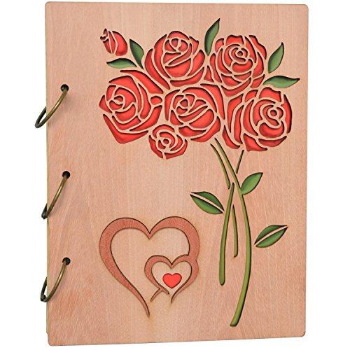 PETAFLOP - Álbum de fotos (5 x 7 cm, 120 bolsillos, 3 anillas), diseño de mariposas, Casual, 5x7 Roses, 5 x 7