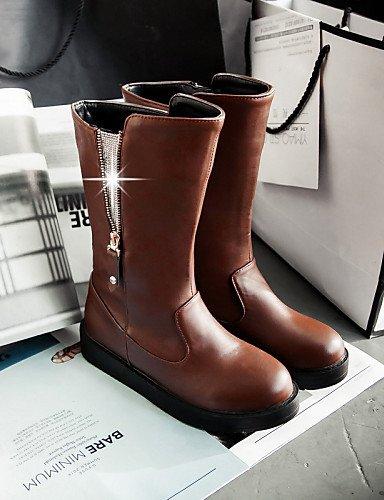 5 Botas Semicuero Uk6 Eu37 Zapatos Oficina Xzz Uk4 Brown Comfort Y Plataforma us6 Eu39 A Casual Vestido La 5 Cn39 7 De Exterior Mujer Moda Black Cn37 5 Trabajo negro us8 xqSwSZX