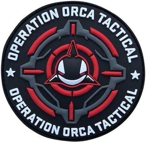 Parches tácticos militares de velcro de Orca Morale con gancho y ...