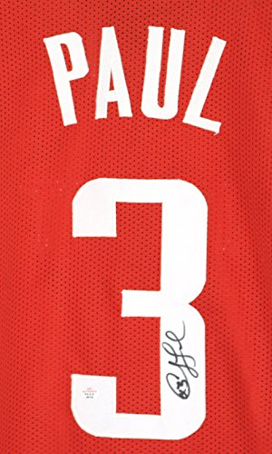 Chris Paul Houston Rockets Signed Autographed Red #3 Custom Jersey PAAS COA (Jersey Clippers Cp3)
