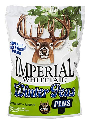 Whitetail Institute Imperial Winter Pea Plus Food Plot Seed (Fall Planting), 11-Pound (.25 Acre) (2 Pack)