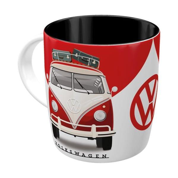 51OOWRM4zXL Nostalgic-Art - Volkswagen Retro Kaffee-Becher - VW Bulli T1 - Good In Shape, Große Lizenz-Tasse als Vintage VW Bus…