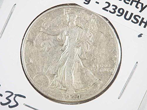 1944 P Walking Liberty Silver Half Dollar Half Dollars Ungraded - Grading Walking Liberty Half Dollars