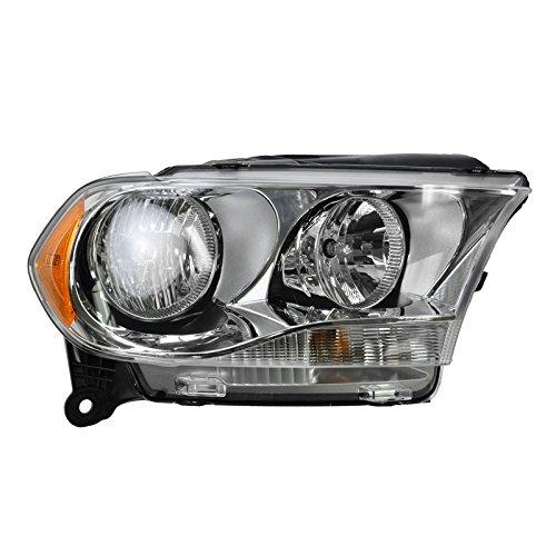 Chrome Bezel Halogen Headlight Headlamp Passenger Right RH for 11-13 Durango