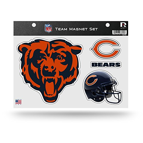 Rico Industries NFL Chicago Bears Die Cut Team Magnet Set Sheet