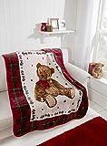 Teddy Hug Me Blanket - Burgundy - 110x140cm