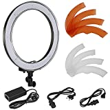 Photo : Neewer Camera Photo/Video 18 inches/48 centimeters Outer 55W 240 Pieces LED SMD Ring Light 5500K Dimmable Ring Video Light with Plastic Color Filter Set and Universal Adapter with US/EU Plug