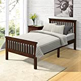 Harper&Bright Designs Wood Platform Bed with Headboard/Footboard/ Wood Slat Support/No Box Spring Needed Twin (Espresso.)