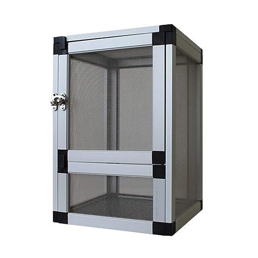 Caja de alimentación de aleación de Aluminio, Anfibio Vivarium ...