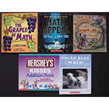 Math Picture Books: Set of 5 (The Grapes of Math ~ Math Appeal ~ Sir Cumference and the Dragon of Pi: A Math Adventure ~ The Hershey's Kisses Addition Book ~ Polar Bear Math: Learning About Fractions from Klondike and Snow)