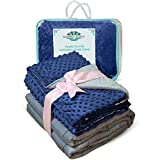 #5: Weighted Blanket Adult Size-For Heavy Stress Relief, Autism, Restless Leg Syndrome & natural calm for anxiety - Gravity Blue 48x72