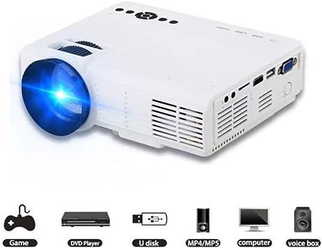 Proyector Smart HD 1080P HD Home Entertainment Proyector LED Portátil Soporte WiFi para iPad Android Sistema De Juegos Y Juegos De Entretenimiento para El Hogar Android,White: Amazon.es: Electrónica