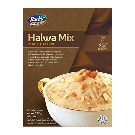 Ruchir Foods Ready to Cook Halwa Mix - 100gms- Ready to Cook, Ready to Eat